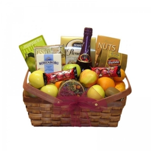 Fruit and Gourmet Feast Gift Basket