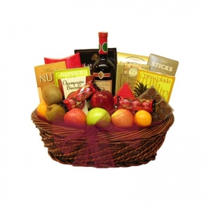 Fruit and Gourmet Extravaganza Gift Basket