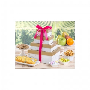 Deluxe Fruit and Sweets Gift Tower