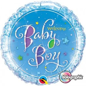 Welcome Baby Boy Balloons