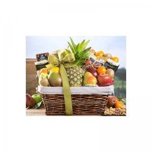 Tropical Fruit and Cheese Gift Basket